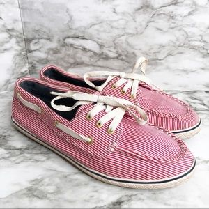 Sperry stripe shoes